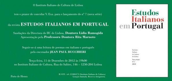 Estudos Italianos Em Portugal