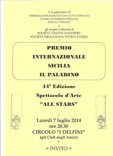 Premio Il Paladino 2014