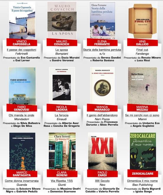 12 libri Premio Strega 2015