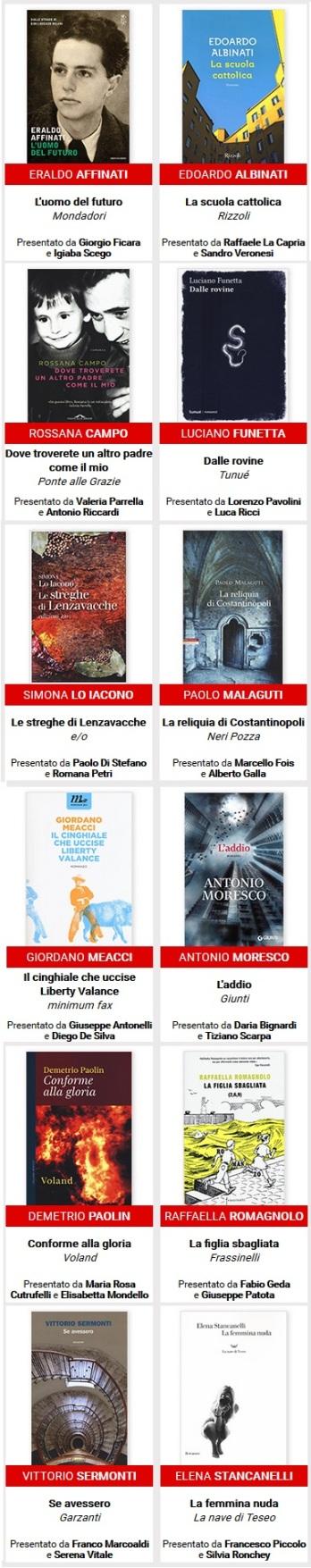 i 12 libri del Premio Strega 2016