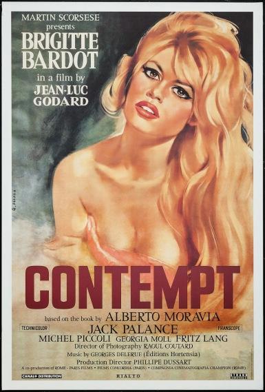 """Risultati immagini per Jean- Luc Godard """"Le mépris"""" (1963) locandina"""